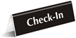 Check In Office Tabletop Tent Sign