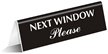 Next Window Office Tabletop Tent Sign