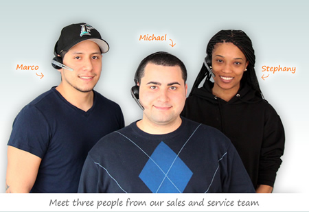 Our Sales and Customer Service Team