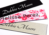 Engraved nameplates come in a large variety of colors.
